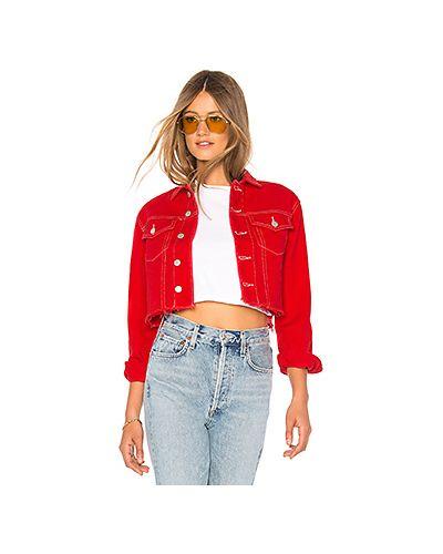 Джинсовая куртка на пуговицах с карманами By The Way.