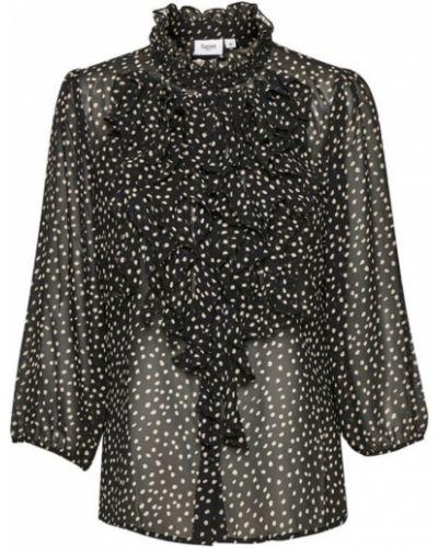 Ciepła czarna koszula z printem Saint Tropez
