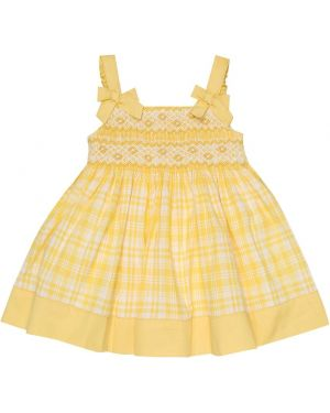 Żółta sukienka bawełniana Rachel Riley