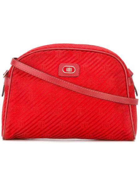 Красная сумка через плечо круглая с перьями Emilio Pucci Pre-owned