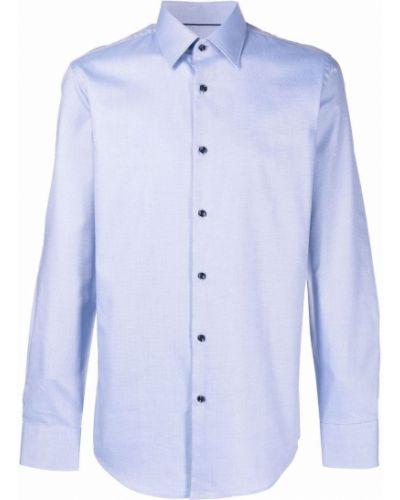 Niebieska koszula slim bawełniana z długimi rękawami Boss Hugo Boss