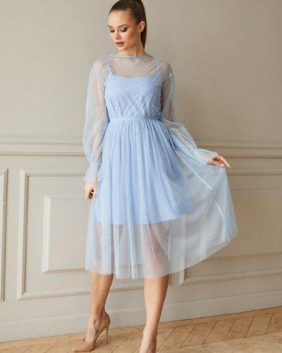 Приталенное нарядное коктейльное платье трапеция Ellcora