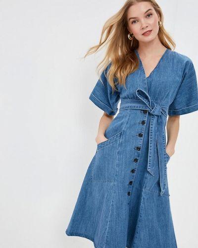 Джинсовое платье весеннее синее Lost Ink.