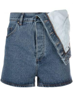 Синие хлопковые джинсовые шорты на пуговицах Y/project
