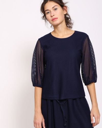 Блузка из полиэстера - синяя Just Valeri