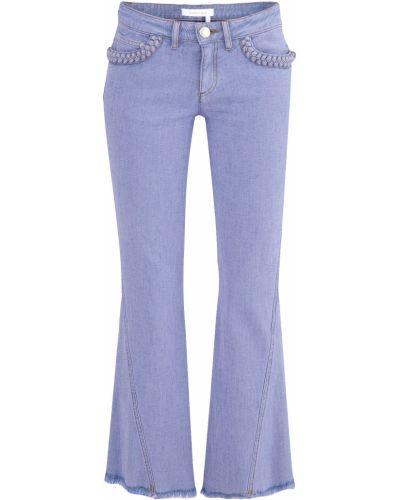 Расклешенные джинсы укороченные с карманами See By Chloe