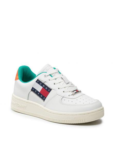 Białe półbuty skórzane casual Tommy Jeans