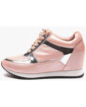 Низкие кеды на платформе розовый Basconi