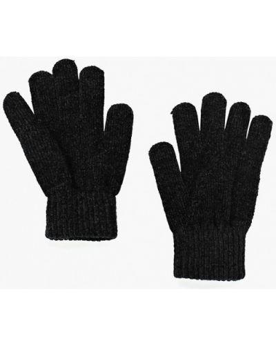Черные перчатки текстильные Befree
