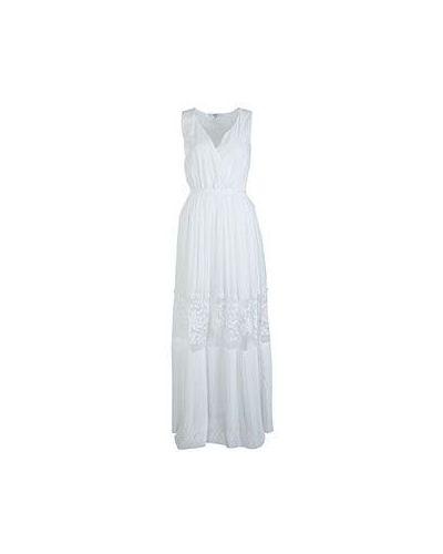 Хлопковое белое платье Liu Jo