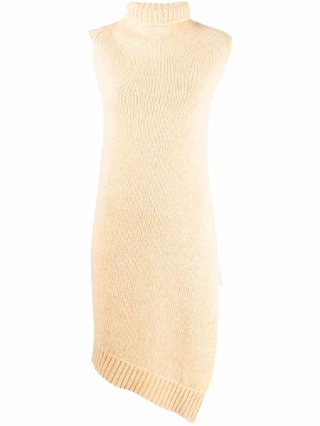 Żółta kamizelka wełniana bez rękawów Jil Sander