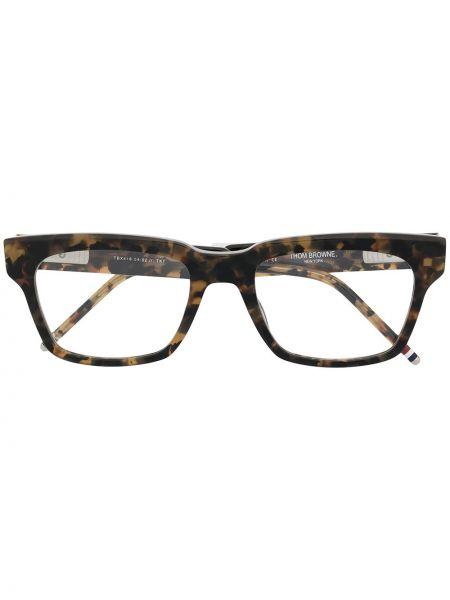 Srebro oprawka do okularów prostokątny Thom Browne Eyewear