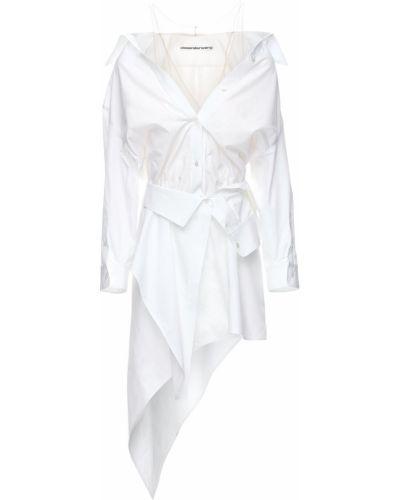 Bawełna z paskiem sukienka mini na paskach z tiulu Alexander Wang