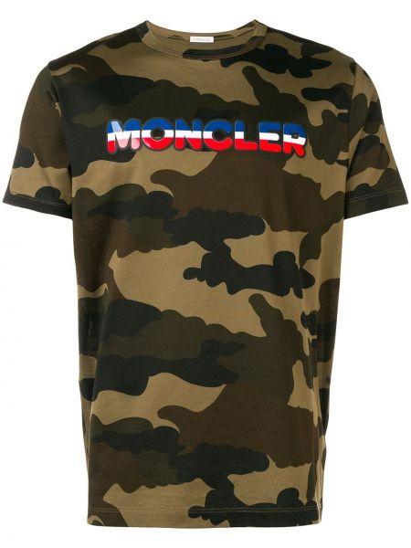 Koszula krótkie z krótkim rękawem w paski z logo Moncler