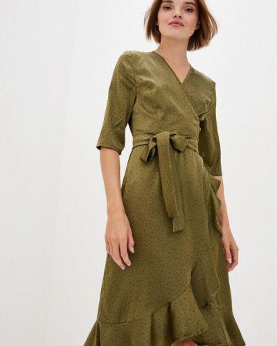 Зеленое платье с запахом 7arrows