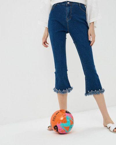 Широкие джинсы расклешенные синие Care Of You