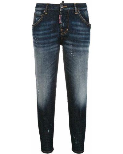 Укороченные джинсы слим фит Dsquared2