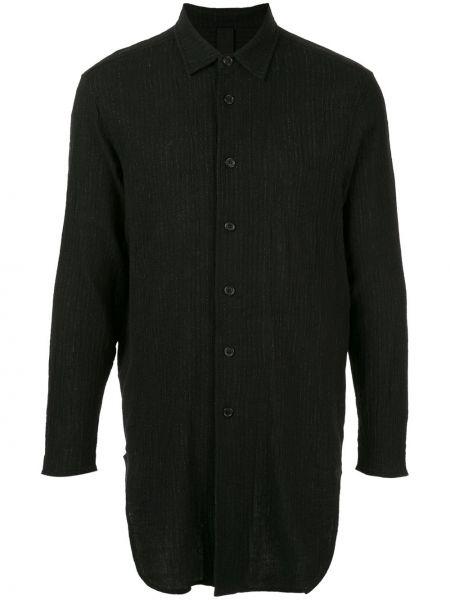 Черная рубашка с воротником узкого кроя с вышивкой Forme D'expression