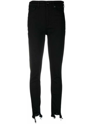 Czarne jeansy rurki bawełniane Rag & Bone