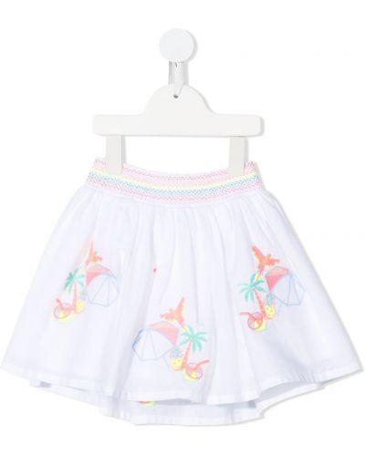 Biała spódnica rozkloszowana bawełniana Billieblush