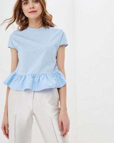 Блузка с рюшами голубой Perfect J
