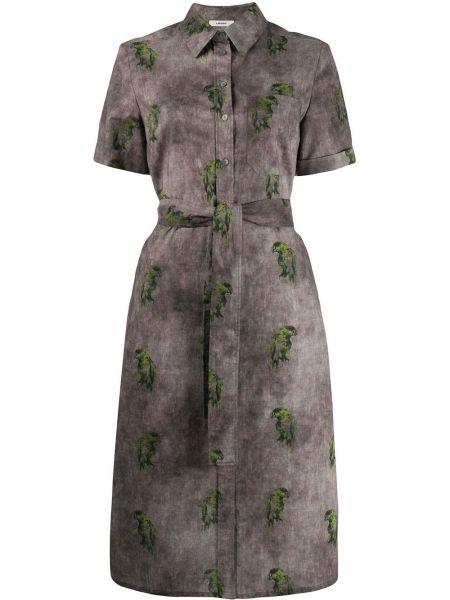 Прямое платье миди на пуговицах с воротником с карманами Lardini