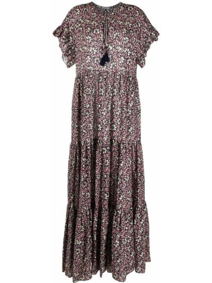 Розовое платье мини в цветочный принт с вырезом P.a.r.o.s.h.