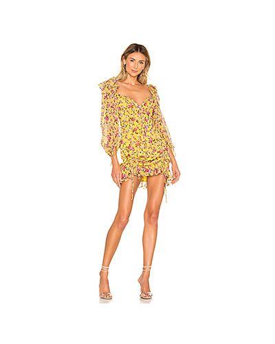 Платье с вышивкой с прозрачными рукавами For Love & Lemons
