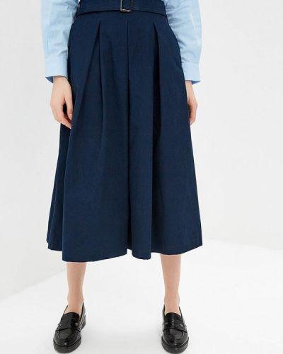 Юбка широкая синяя Zarina
