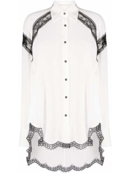 Шелковая белая классическая рубашка с воротником Ermanno Scervino