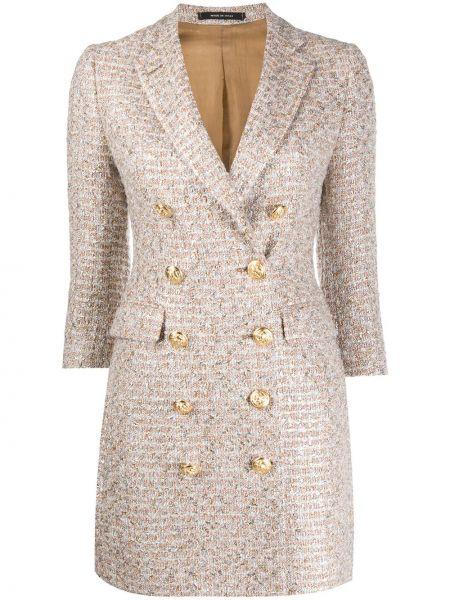 Платье на пуговицах двубортное Tagliatore