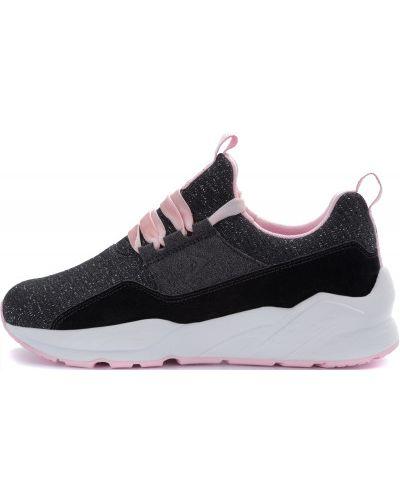 Черные кроссовки на шнуровке Fila