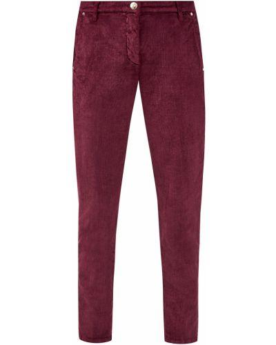 Красные деловые джинсы с нашивками вельветовые Jacob Cohen