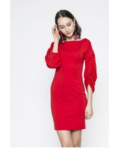 Платье мини со складками трикотажное Answear