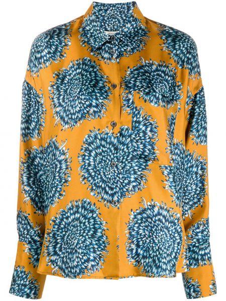 Классическая рубашка с воротником с карманами свободного кроя на пуговицах Odeeh