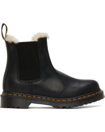 Белые кожаные ботинки челси Dr Martens