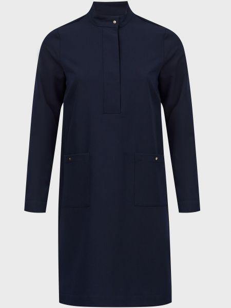 Платье на кнопках - синее Joop!