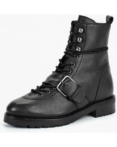 Кожаные ботинки осенние на каблуке Bronx