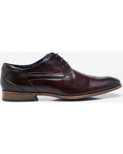 Коричневые туфли Bugatti