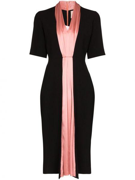 Платье мини розовое миди Roksanda