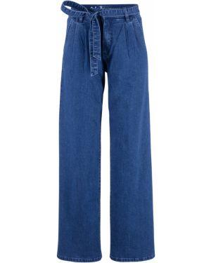 Широкие джинсы стрейч с поясом Bonprix