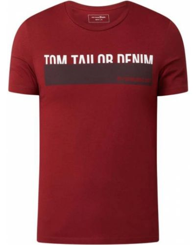T-shirt bawełniana - niebieska Tom Tailor Denim