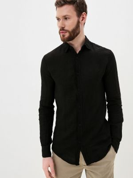 Черная рубашка Young & Rich