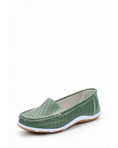 Зеленые мокасины Zenden Comfort