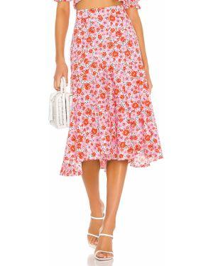 Różowa spódnica mini bawełniana vintage Yumi Kim