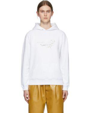 Bluza z kapturem z kwiatowym nadrukiem biały Givenchy