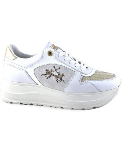 Białe sneakersy La Martina