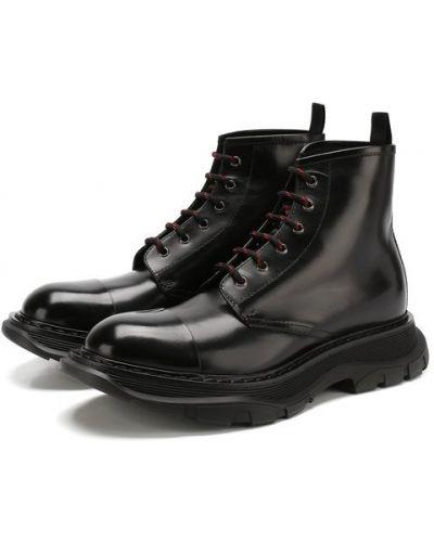 Ботинки на шнуровке кожаные Alexander Mcqueen