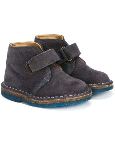 Ботинки замшевые серые Pèpè