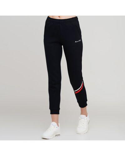 Черные трикотажные спортивные брюки с поясом Anta